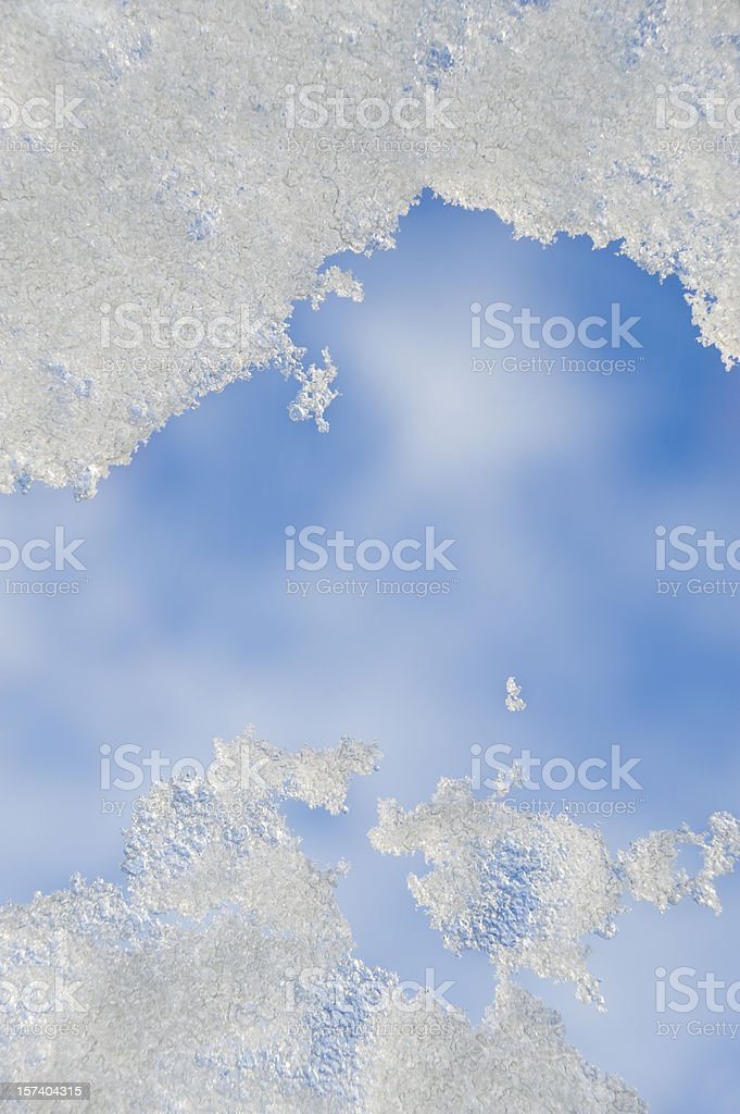 Snow on a rooflight stock photo