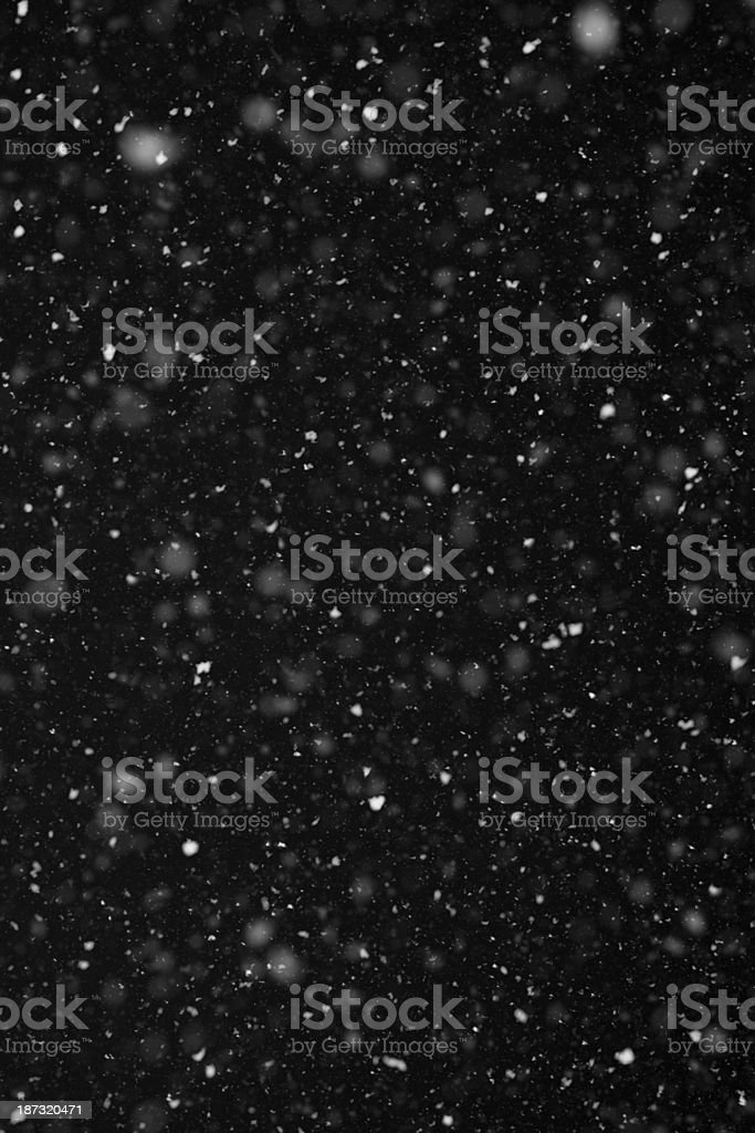 Snow On Black Background royalty-free stock photo
