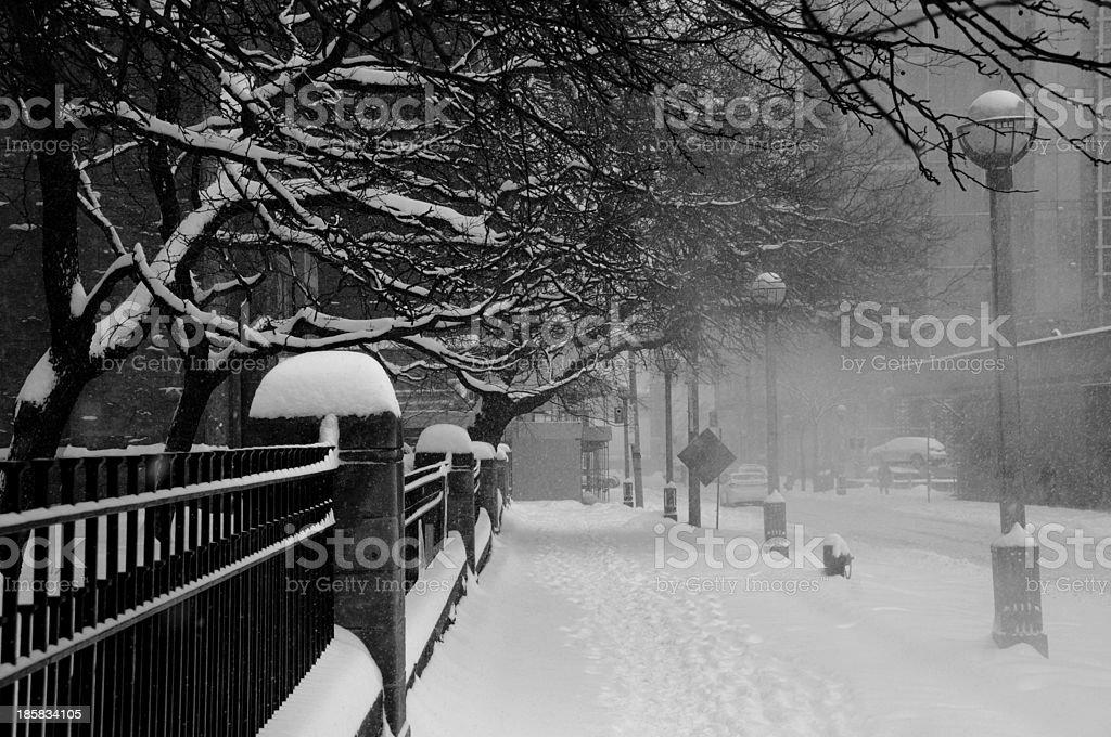 snow on city royalty-free stock photo