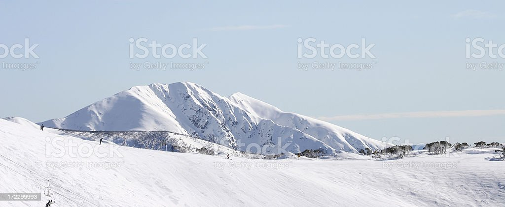 Snow on Mt Feathertop royalty-free stock photo