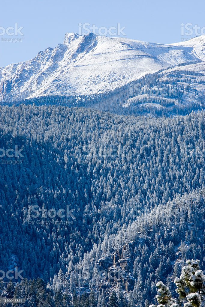 Snow on Pikes  Peak royalty-free stock photo