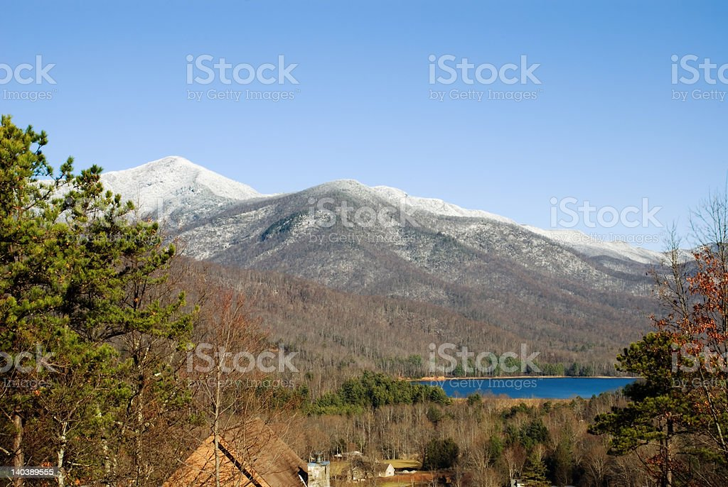 Snow on the Mountains royalty-free stock photo