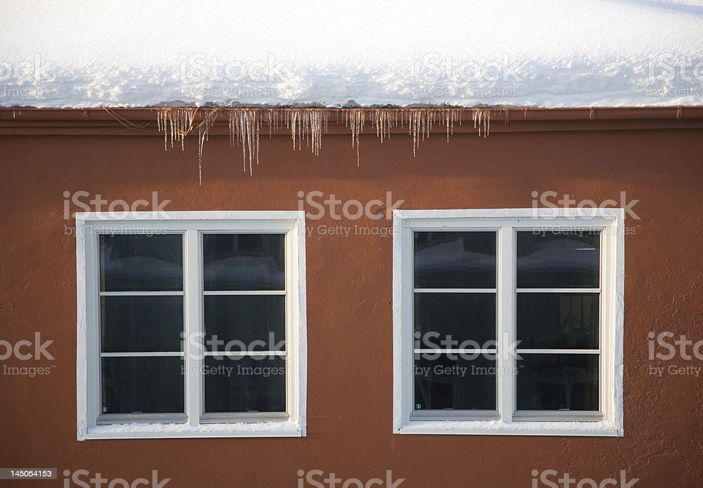 Snow on the Roof royalty-free stock photo