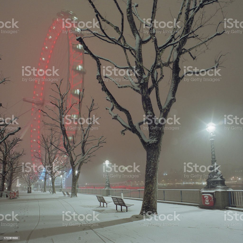 Snow on the South Bank XL royalty-free stock photo