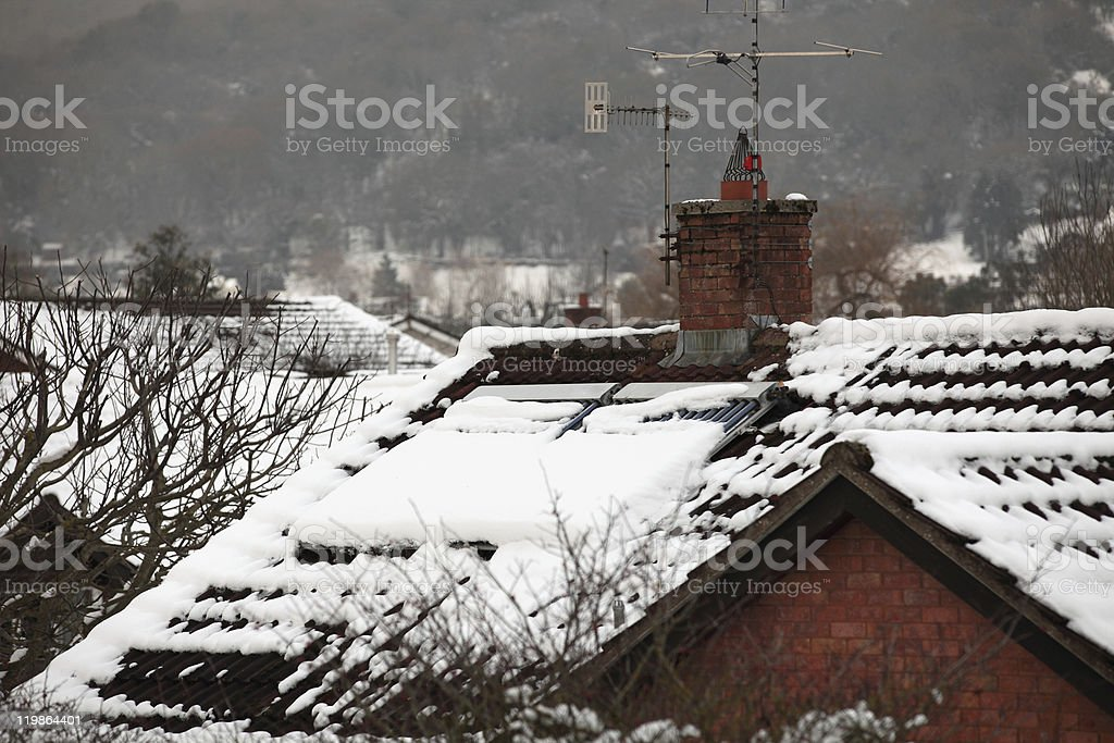 Snow over a solar panel royalty-free stock photo