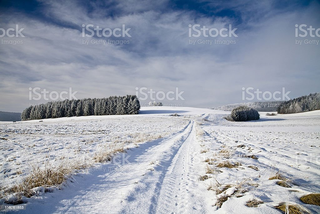snow path royalty-free stock photo