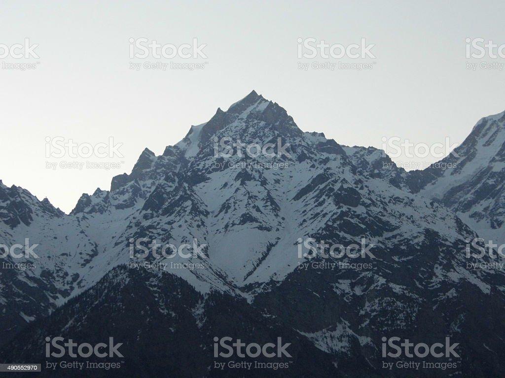 Snow peaks stock photo