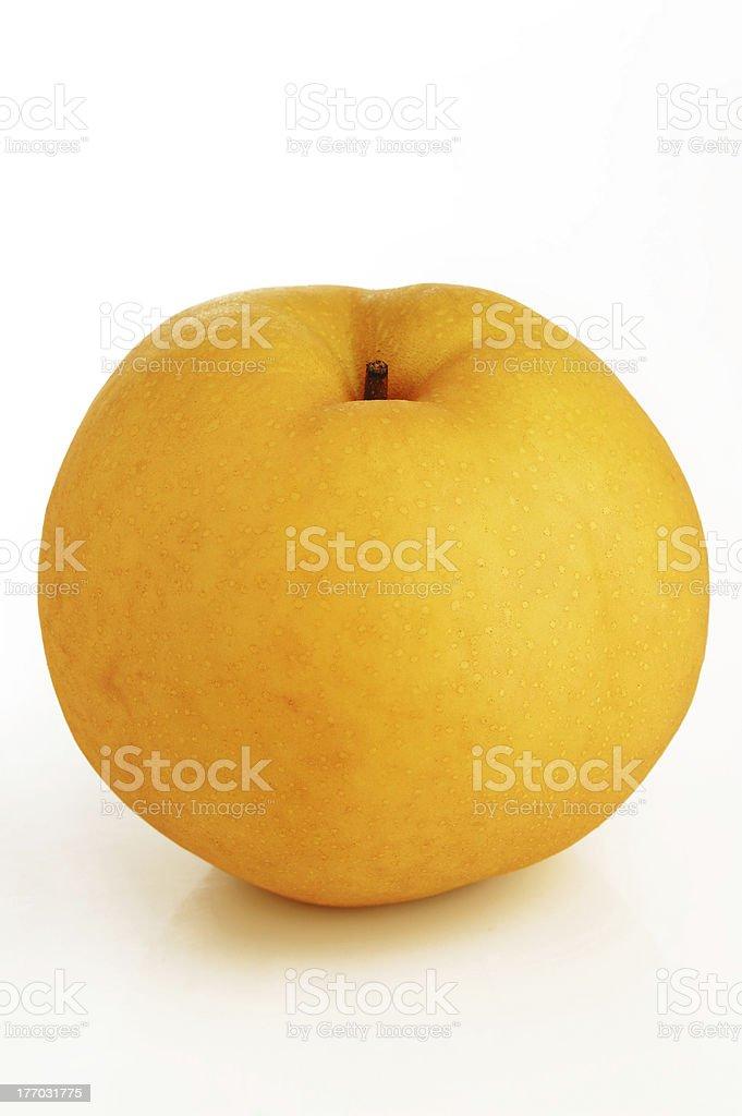 snow pear stock photo