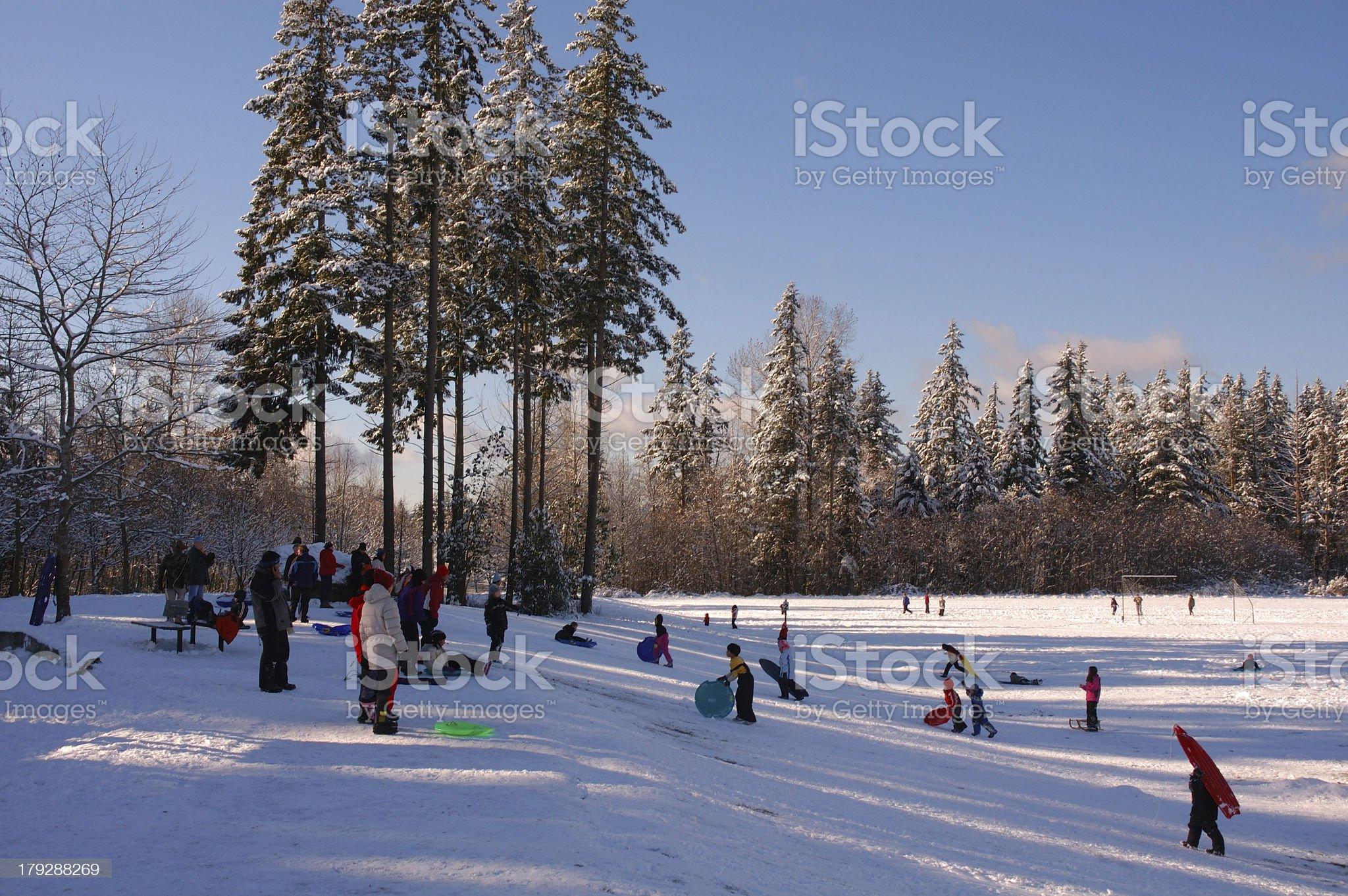 Snow playground royalty-free stock photo