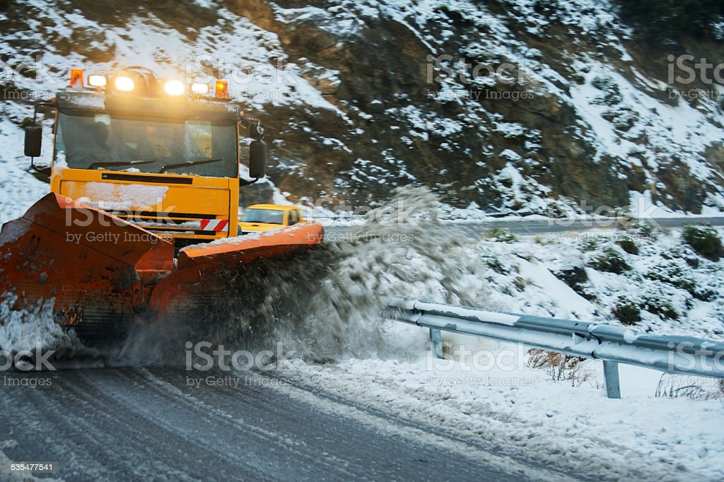 Snow plough stock photo
