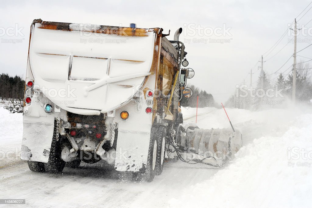 Snow Plow at work royalty-free stock photo