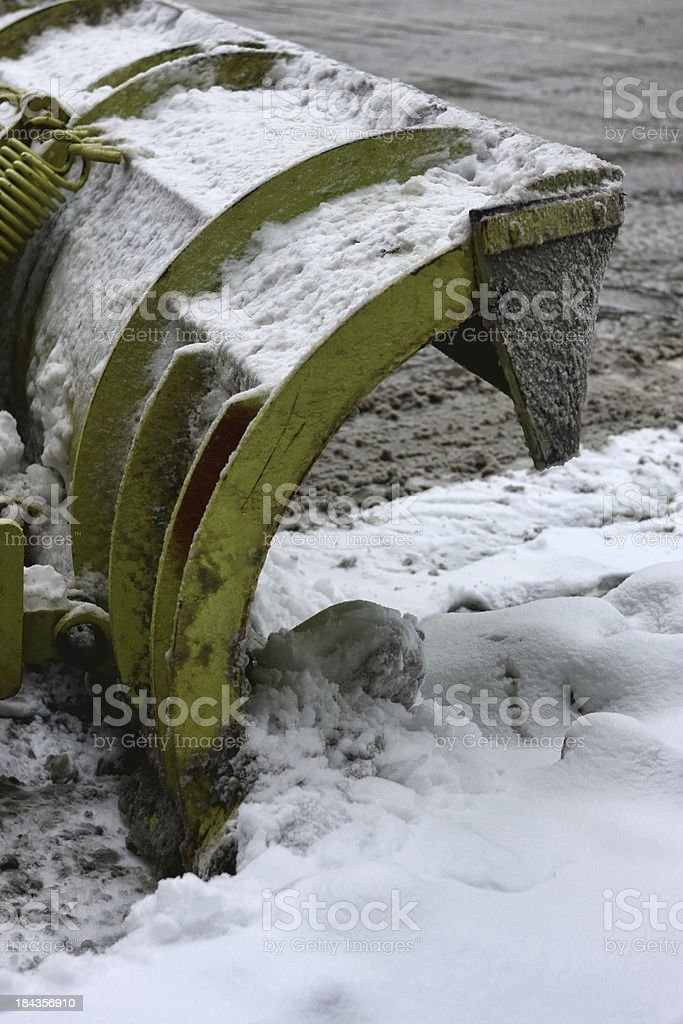 Snow Plow Close Up royalty-free stock photo