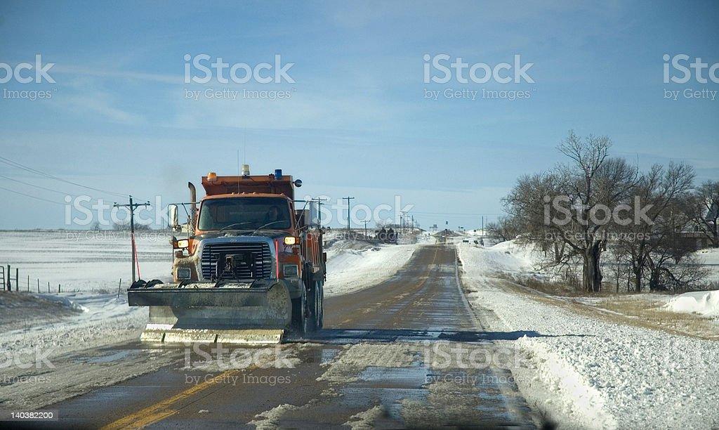 Snow Plow royalty-free stock photo