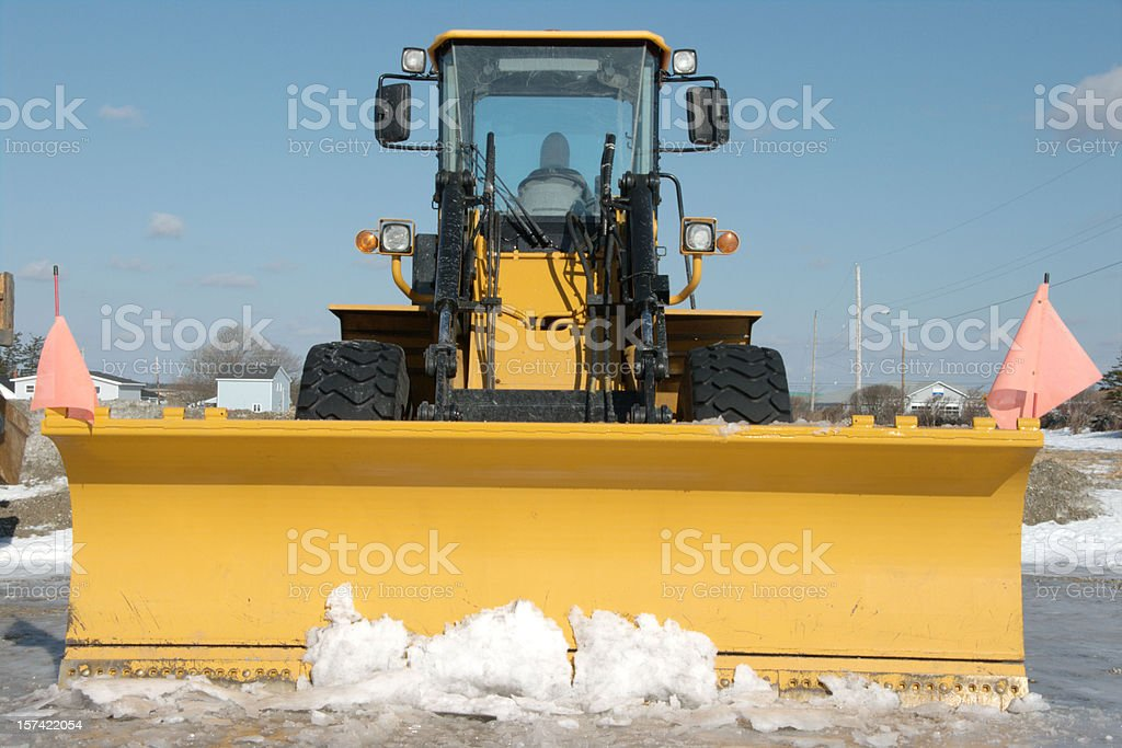 Snow plow royalty-free stock photo