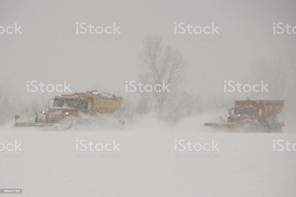 Snow plows royalty-free stock photo