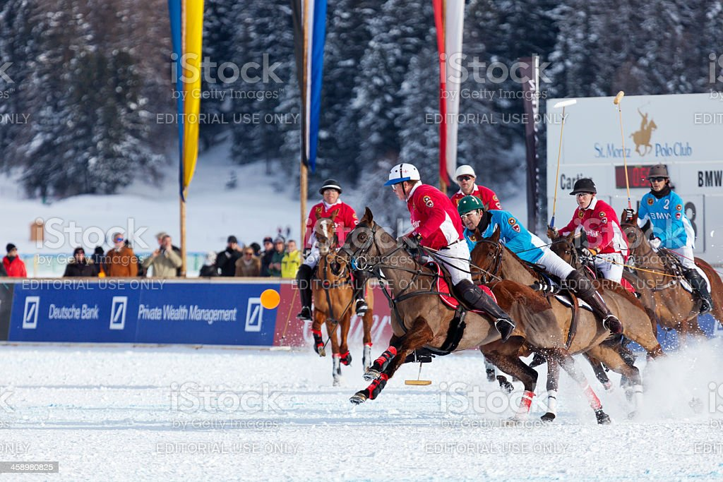 Snow Polo Action royalty-free stock photo