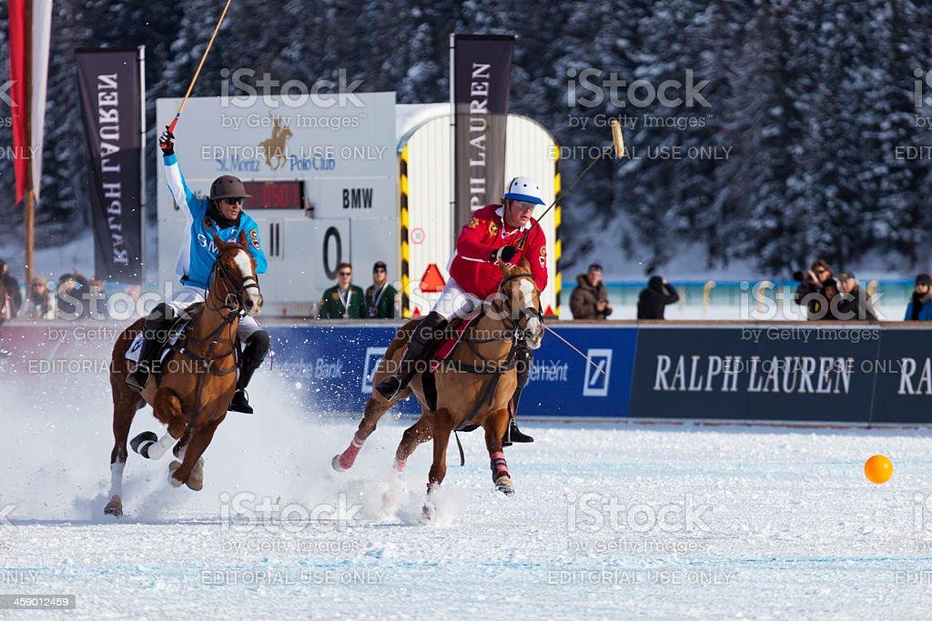 Snow Polo Action royalty-free stock photo