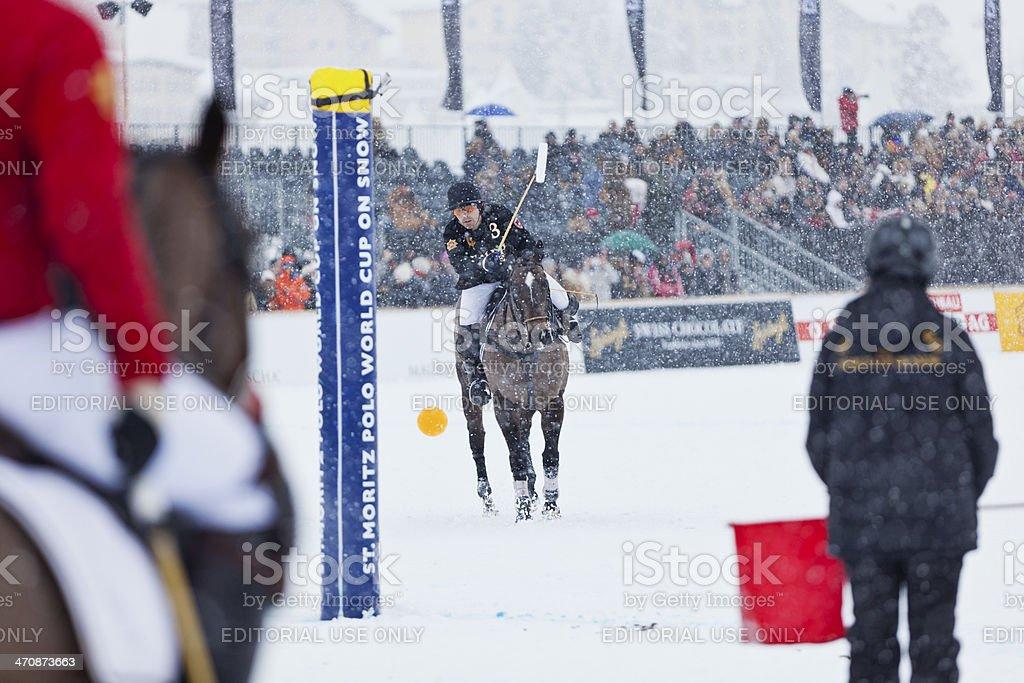 Snow Polo Penalty royalty-free stock photo