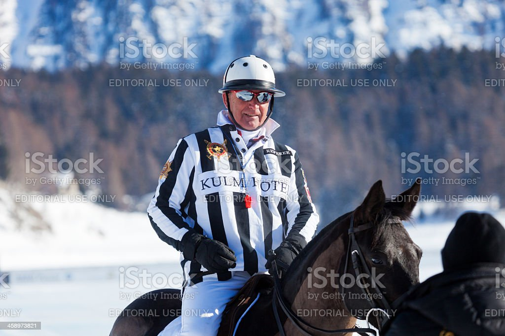 Snow Polo Referee royalty-free stock photo