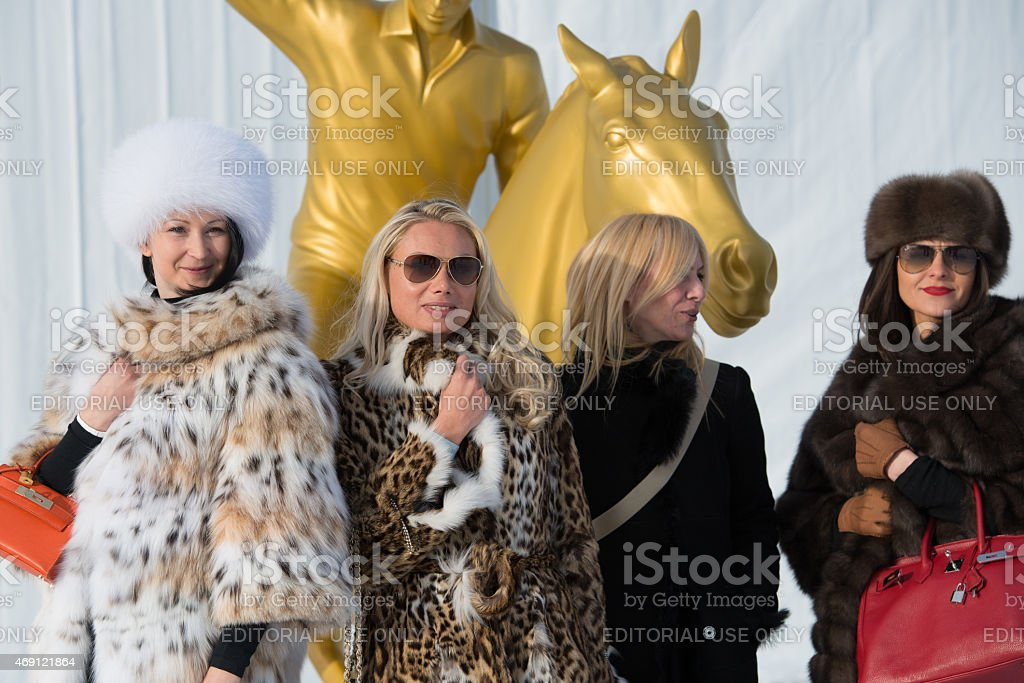 Snow Polo St.Moritz stock photo