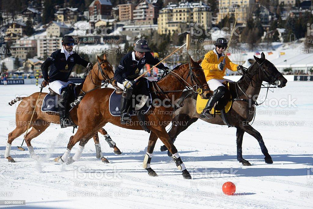 'Snow Polo World Cup St. Moritz' stock photo