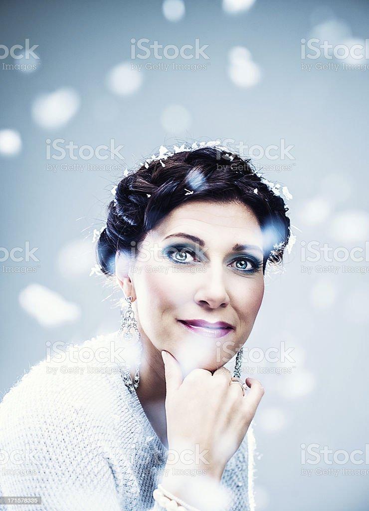 Snow princess goddess royalty-free stock photo