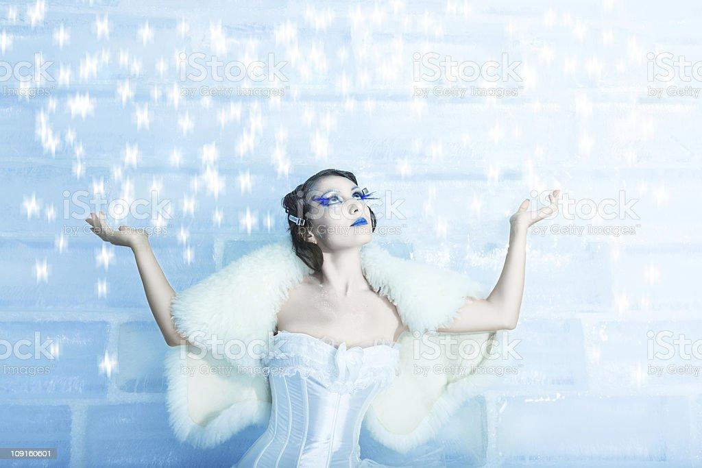 Snow queen stock photo