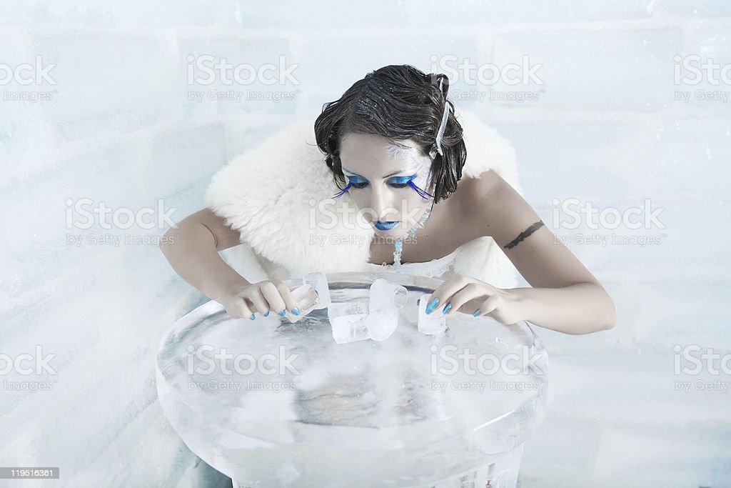 Snow queen royalty-free stock photo
