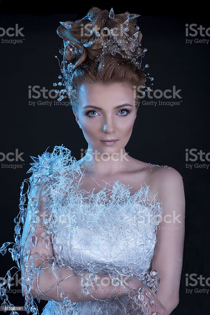 Snow Queen stock photo