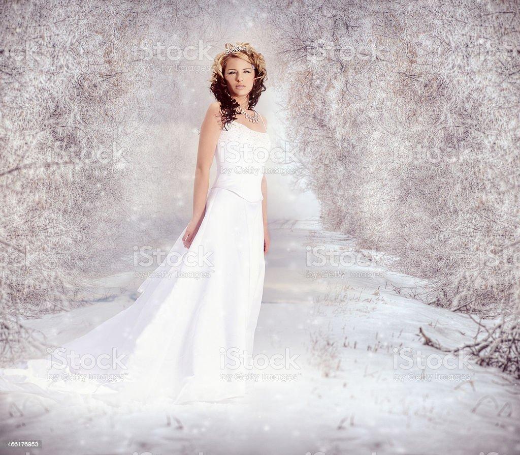 Snow Queen Winter Magic stock photo
