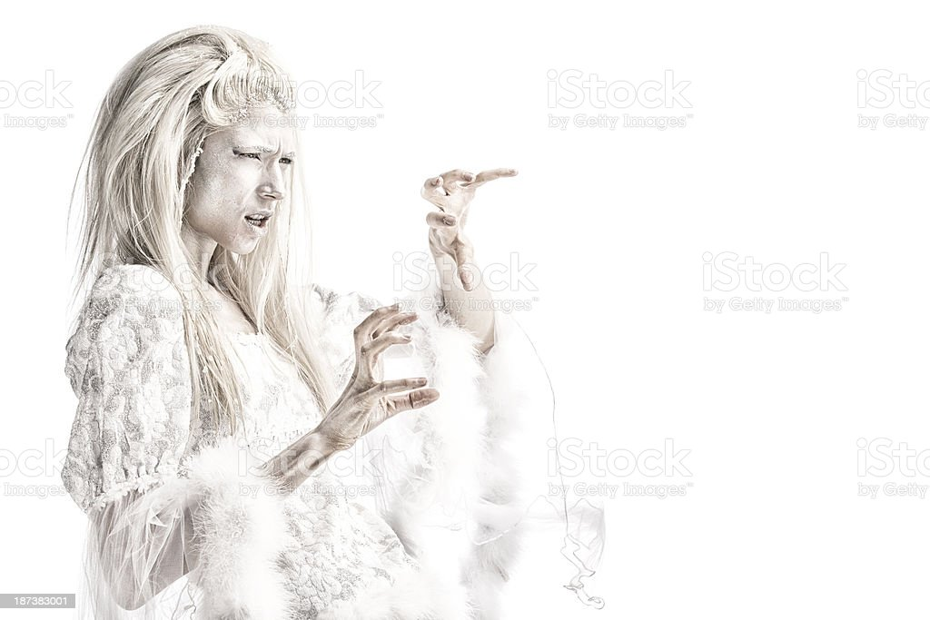 Snow Queen Witch royalty-free stock photo