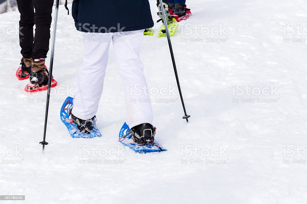 Snow Rackets stock photo