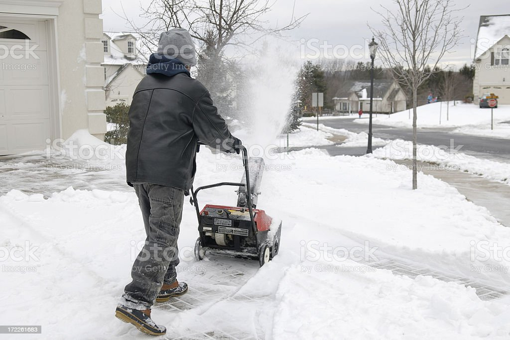 Snow Removal 2 royalty-free stock photo