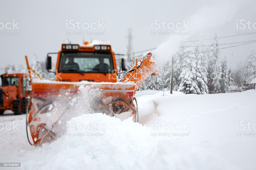 Snow Removal Machine stock photo