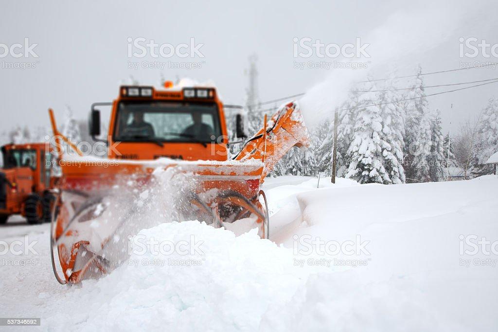 Snow Removal Machine stock photo