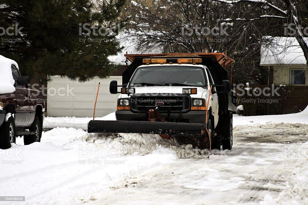 Snow Removal stock photo