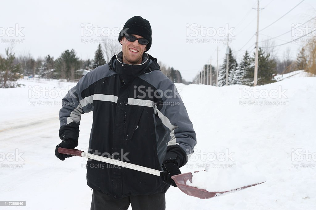 Snow Removal royalty-free stock photo