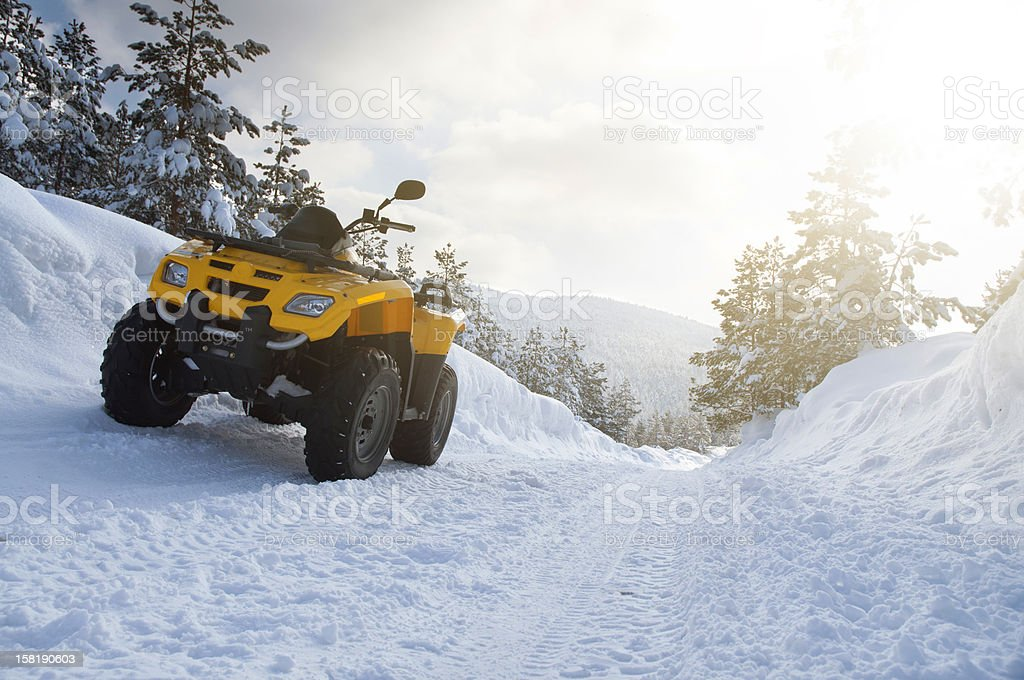 Snow ride royalty-free stock photo