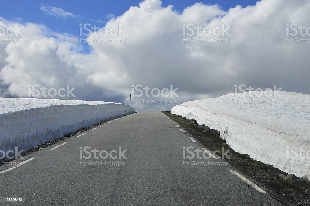 Neve road foto royalty-free