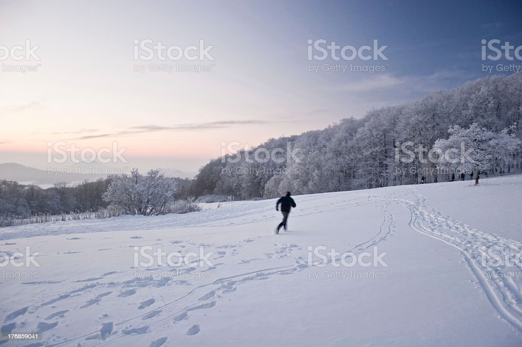 Snow runner royalty-free stock photo