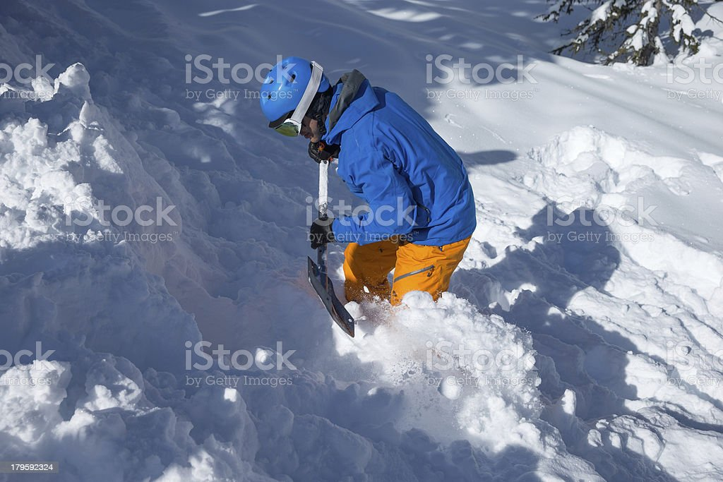 snow safety avalanche stock photo