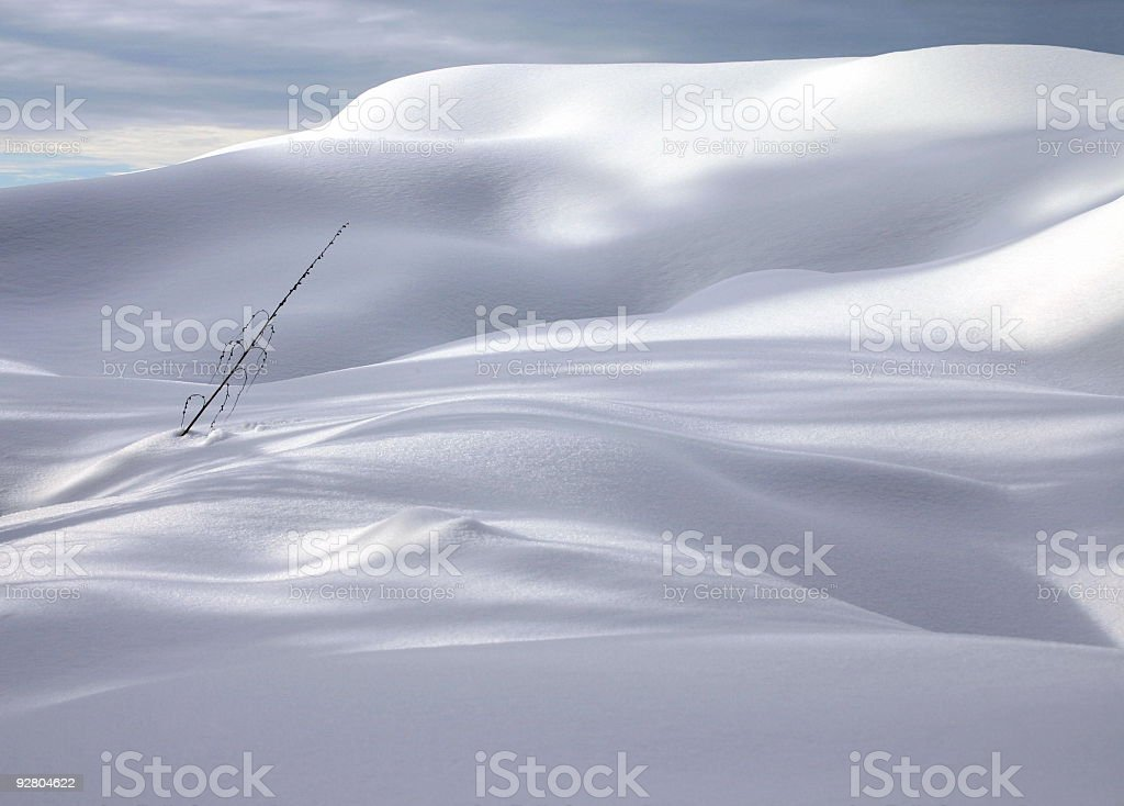 Snow Scene Of Utter Simplicity royalty-free stock photo