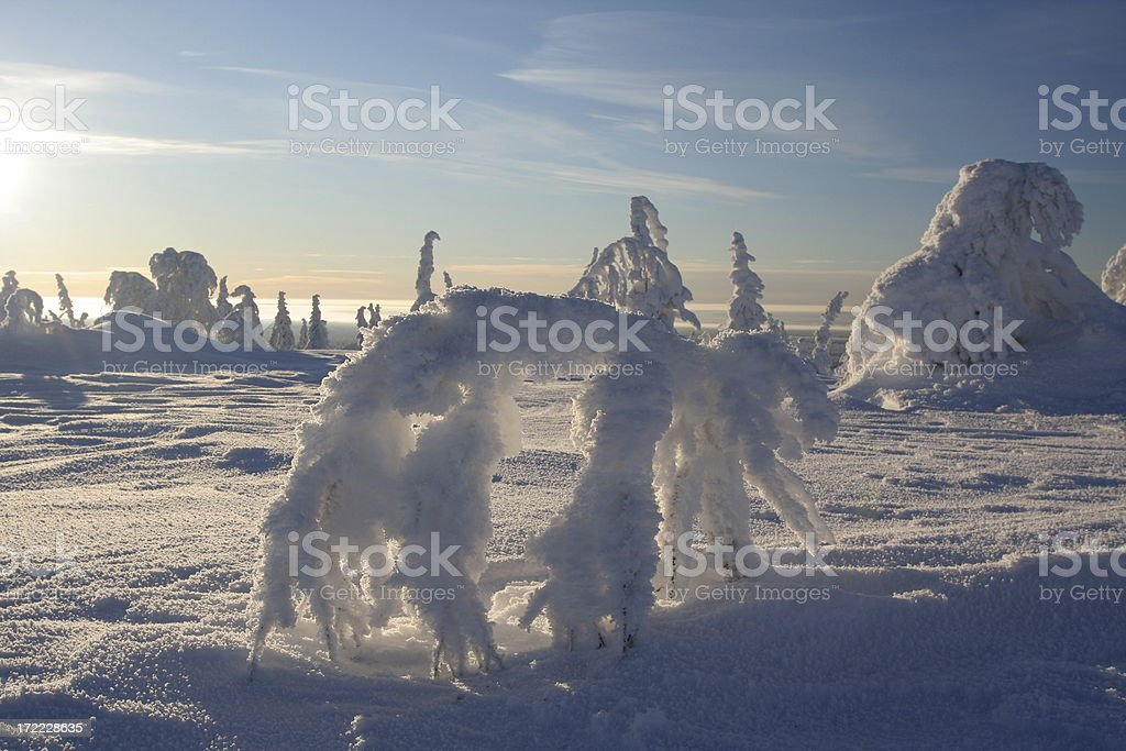 Snow sculptures royalty-free stock photo