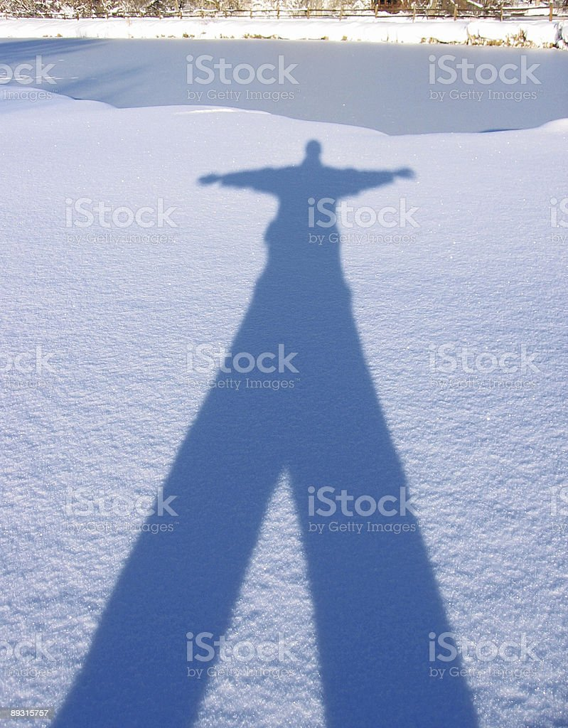 Snow Shadow royalty-free stock photo