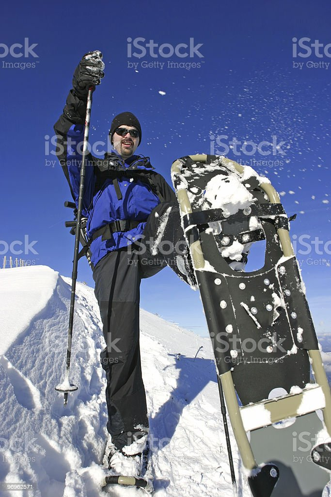 snow shoe stock photo
