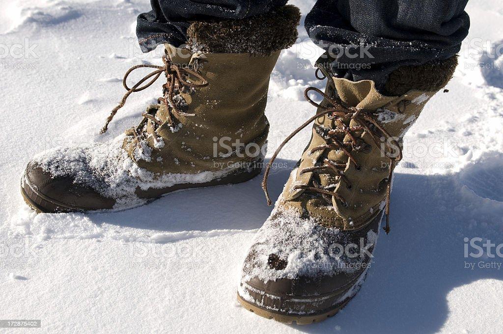 Snow Shoes stock photo