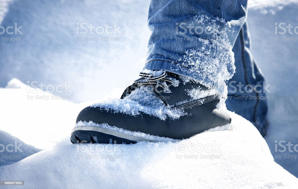 Snow Shoes stock photo