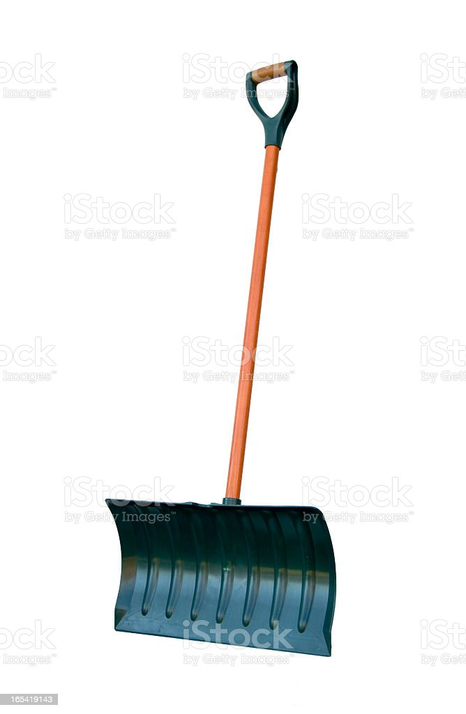 Snow Shovel isolated on white royalty-free stock photo