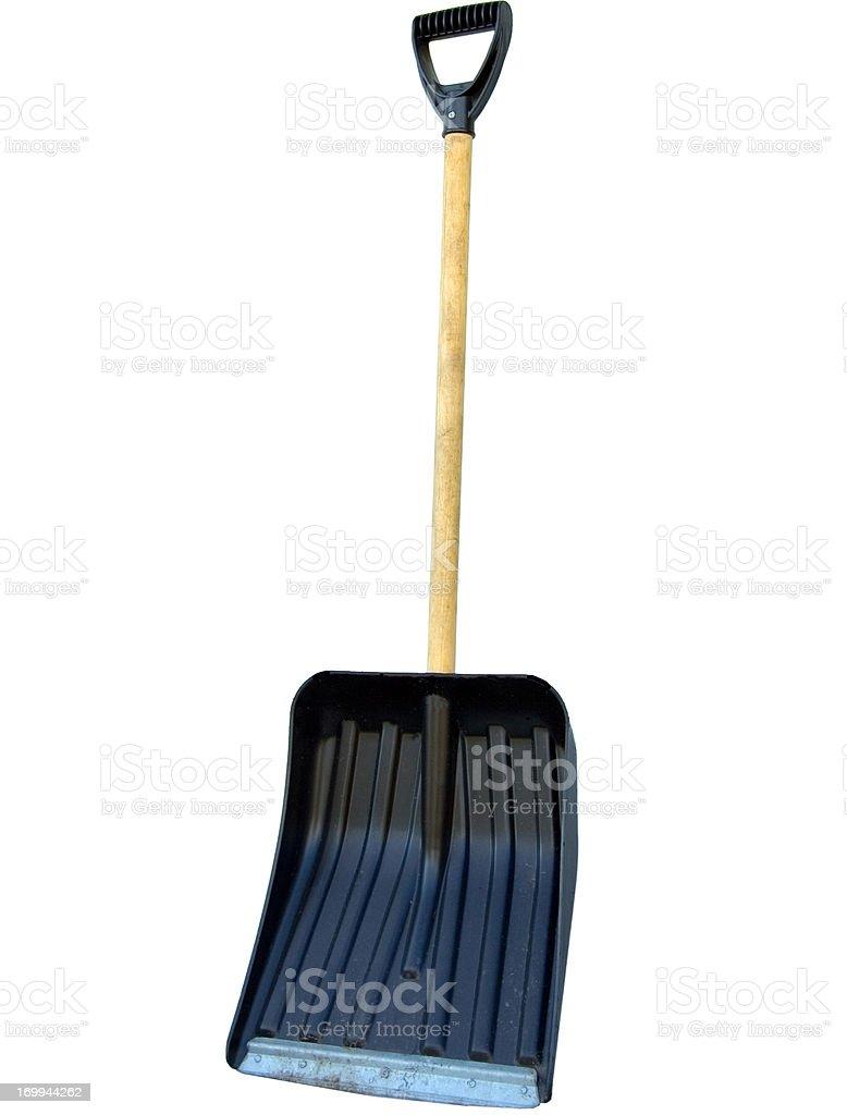 Snow Shovel isolated on white stock photo