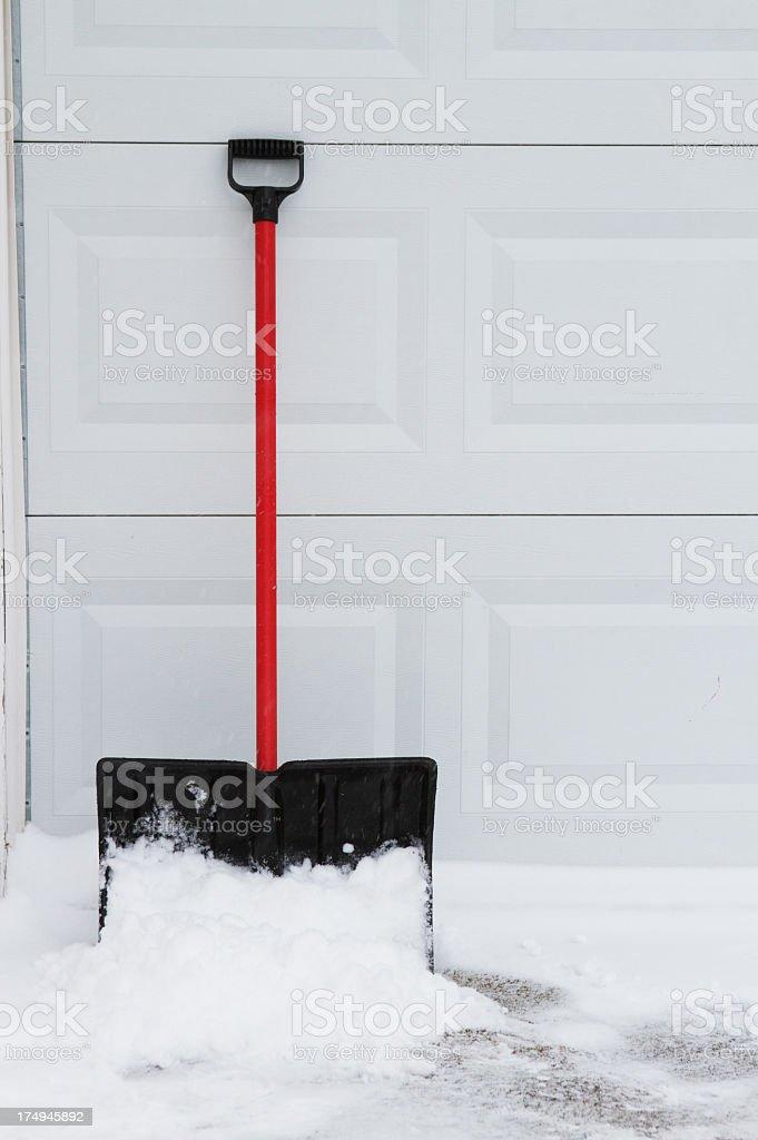 Snow Shovel royalty-free stock photo